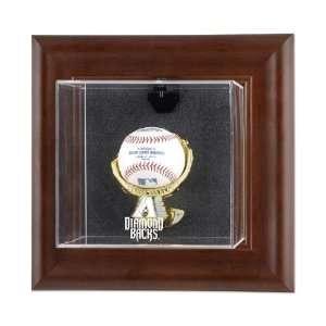 Arizona Diamondbacks Brown Framed Wall Mounted Logo Baseball Case