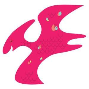 Wall Hugs Dinosaur Pterodactyl Wall Decal