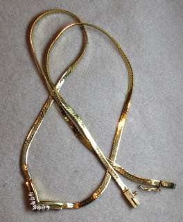 Nice 16 14K Gold and Diamond necklace Valentines Day Bargain