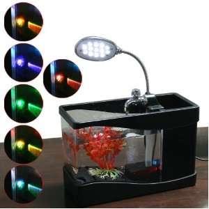 Mini Fish Tank USB Desktop Lamp Light Colorful LED