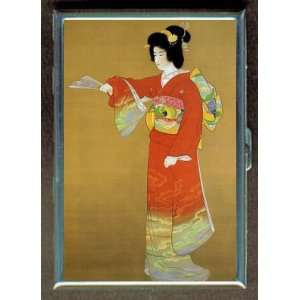 BEAUTIFUL JAPANESE GEISHA GIRL ID CIGARETTE CASE WALLET