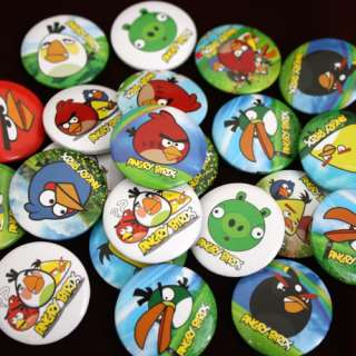 10 X Random Angry Birds Button Pin Badges Party Favors Hot Gift