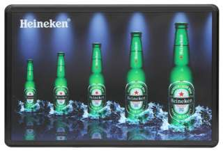 Animated LED Light Box Sign Display for Bar, Beer, Liquor   Heineken