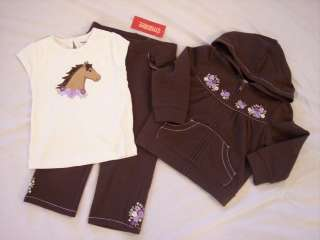 NWT Girl Gymboree Cowgirl horse shirt hoodie pants 2 2T