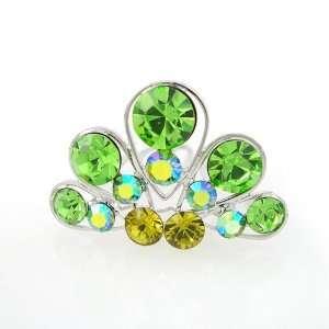 Green Swarovski Crystal Mini Tiara Comb 1.35 Wide Beauty