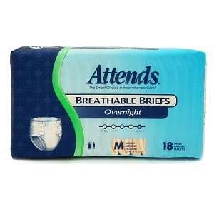 Attends Breathable Briefs Overnight Medium (32in 44in), 36 ea Health