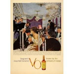 1950 Ad Seagram Canadian VO Rialto Charity Ball N Y