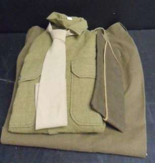 WWII US ARMY SOLDIER UNIFORM PANTS SHIRT HAT ORIGINAL