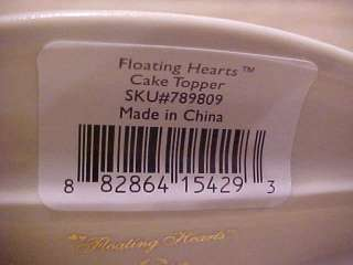 LENOX FLOATING HEARTS WEDDING CAKE TOPPER NEW IN BOX