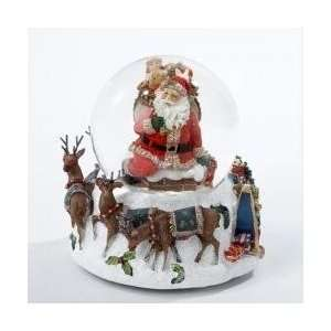 Musical Santa Claus in Chimney with Reindeer Christmas