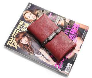 Genuine Leather Womens Clutch Wallet Purse Notecase