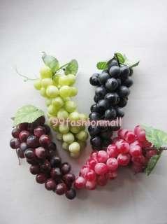 Lifelike Artificial Grapes Cluster Home Garden Decor Fake Fruit 4