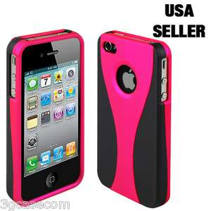 Sleek 3Piece Hot Pink Case Cover Bumper for iPhone 4 4G