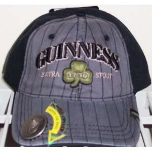 GUINNESS Bottle Opener Gray Baseball Cap Hat Str Fit