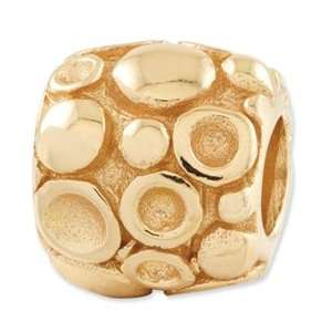 Sterling Silver Gold plated Reflections Dots Bali Bead