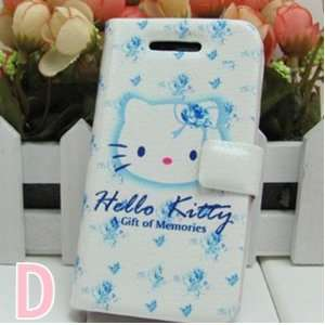 Trendy and Creative Leather iPhone Case w/ Hello Kitty Print (iPhone 4