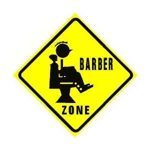 Barber Zone Hours : BARBER ZONE crossing hair cut joke sign