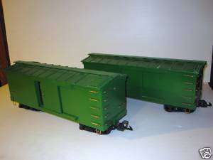 Custom Built Wood G scale train Box Cars NICE!