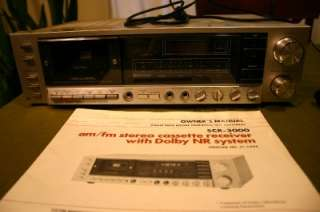 Realistic SCR 3000 AM/FM Stereo Cassette Receiver w Manual