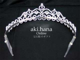 WEDDING BRIDAL PARTY CRYSTAL RHINESTONE TIARA CROWN TR5