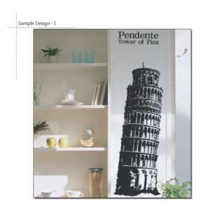 BIG TOWER OF PISA ITALY Vinyl Decal Wall Decor Stickers