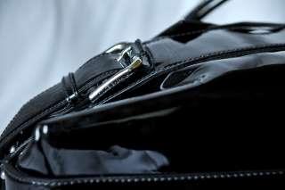 DOLCE & GABBANA Black MISS LOOP Patent Leather Bowler Bag Handbag