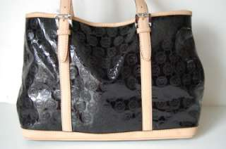Michael Kors Amagansett Large monogram Mirror metallic black tote
