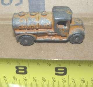 Tootsie toy, orange Mack truck tanker
