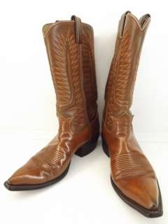 Womens cowboy boots brown leather Tony Lama Black Label 8.5 A western