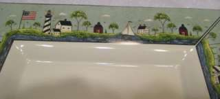 Coastal Breeze (Oneida) 15 Square Serving Platter Warren Kimble