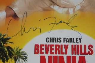 CHRIS FARLEY SIGNED BEVERLY HILLS NINJA POSTER JSA RIP