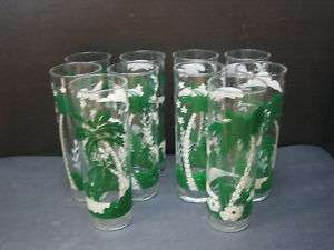Libbey Tall Lemonade/Tom Collins Palm Tree Glasses   10