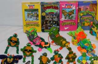 Lot of Teenage Mutant Ninja Turtles 49 Figures, 5 Vehicles, Some