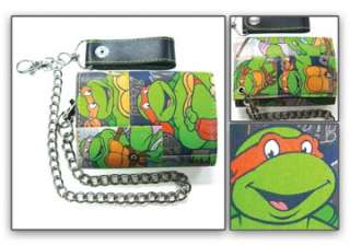 Wallet TEENAGE MUTANT NINJA TURTLES TMNT NEW Group Collage w/Chain
