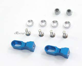 New Alloy Servo Mount Set Fits Tamiya TT 01 TLT 1 Blue