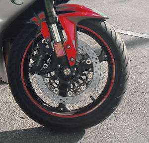 Red Car Motorcyle Rim Stripe Wheel Decal Tape Sticker