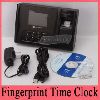 Time Clock Attendance System Employee Entry Biometric
