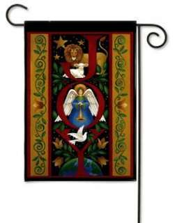 Christmas Illuminated Joy Angel Lion Dove Small Flag