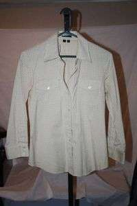 Theory Tan Check Long Sleeve Button Down Shirt