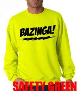 New BAZINGA The Big Bang Theory Crew Neck Sweat Shirt Sheldon Cooper