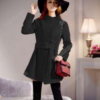 Fashion Korean Womens Cashmere Overcoat Woollen 3 Colors Good