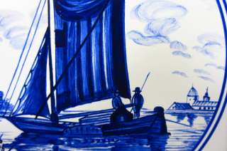 e631d SAILING BOAT ON DELFT BLUE TILE
