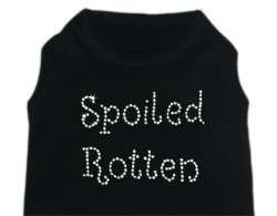 Dog Pet Puppy Spoiled Rotten Rhinestone Shirt Clothes