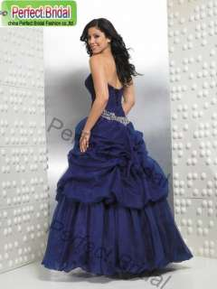 Royal Blue Quinceanera Dress Debutante Wedding Party Ball Gown Bridal