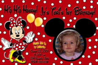 Minnie & Mickey Mouse Birthday Party Invitation