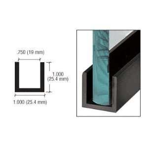 CRL Black Powder Coat Wet Glaze 1 Deep U Channel 120 Stock Length by