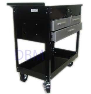 Mobile Mechanic Tool Service Cart 3 Drawers Tool Rack
