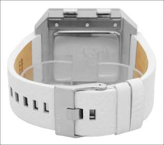Diesel Green Dial Digital Mens Light Log Alarm Timer White Watch