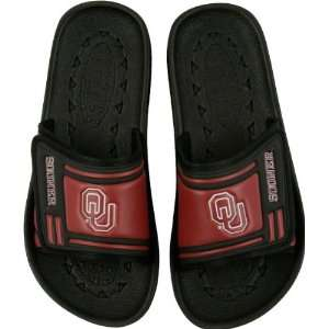 Oklahoma Sooners Black Slide Logo Sandals Sports