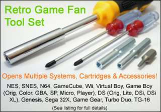 Retro Game Tool Set Open NES SNES N64 DS Genesis TG16 Boy Wii System